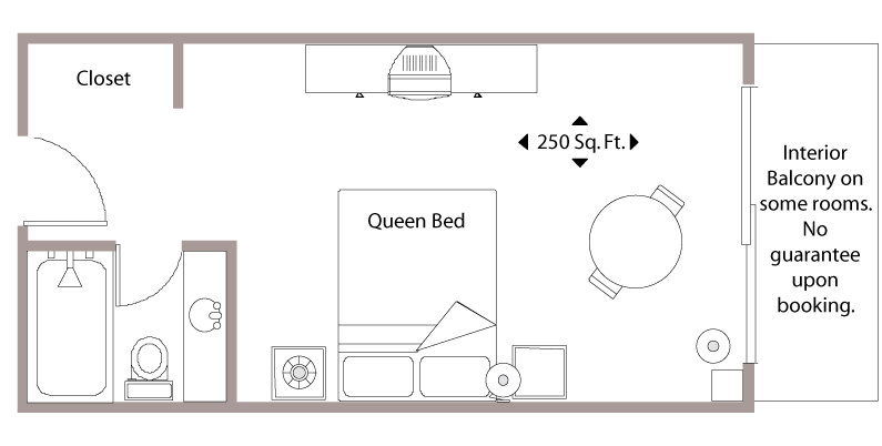 Floor Plan - Standard Hotel Room