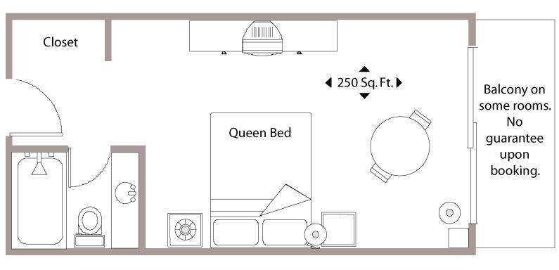 Floor Plan - Superior Hotel Room