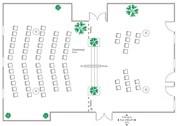 floor plan atrium wedding banff ptarmigan inn