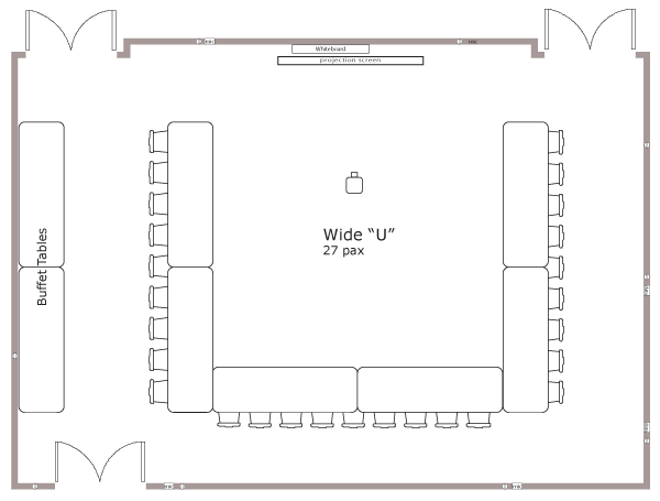 Wide U Layout
