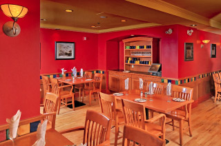 The Meatball Pizza and Pasta Dining area
