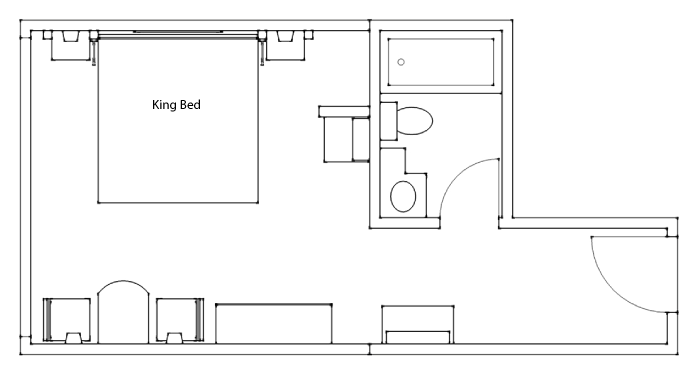 Floor Plan - Superior Hotel Room King