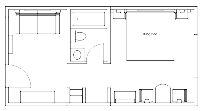 King Suite Floor Plan