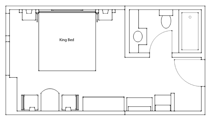 Floor Plan - Standard Hotel Room King